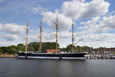Barque at the harbor of Lubeck-Travemunde  — Photo