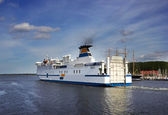 Ferry boat sailing from port  — Stock Photo