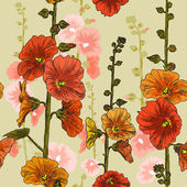 Seamless mönster med vinda blommor — Stockvektor