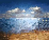 Blur sea background — Stock Vector