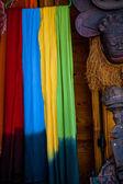 Färgglada sjalar — Stockfoto