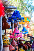 Colorful straw hats — Stock Photo