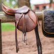 Horse saddle — Stock Photo