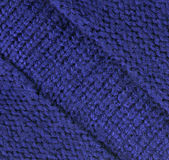 Blue woolen texture — Stock Photo