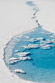 Mavi buzul gölü — Stok fotoğraf