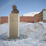 Barentsburg - Lenin monument — Stock Photo
