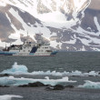 Stock Photo: Arctic landscape with ship