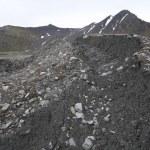 Glaciers creates new landscapes - moraines — Stock Photo