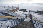 Barentszburg - Russische stad in het Noordpoolgebied — Stockfoto