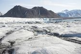 Arctic landscape with glaciers and mountains — Stock Photo
