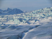 Typical Arctic winter landscape - blue glacier — Стоковое фото
