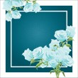 Rose blue postcard — Stock Vector