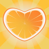 Orange heart — Stock Vector