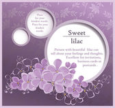 Sweet vector lilac card — Stock Vector
