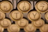 Las llaves de la vieja máquina de escribir. — Stok fotoğraf