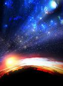 Vista del cielo extrema — Foto de Stock