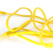 Yellow LAN cable — Stock Photo
