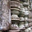 Stock Photo: Stone window of temple in Vat Phou, Laos