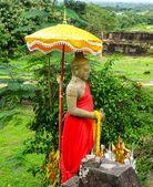 Antiguo buda en vat phou — Foto de Stock