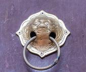 Old Thai style door knocker — Stock Photo