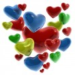 Stock Photo: Hearts of colors