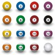 Billiard balls - Foto Stock