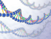 DNA in white background — Stock Photo