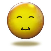Render emoticon 3D. Asiatic — Stock Photo