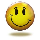 Emoticon de render 3d. inocente — Fotografia Stock