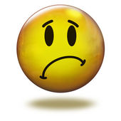 Render emoticon 3D. Sorry — Stock Photo