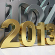 Golden year 2013 — Stock Photo