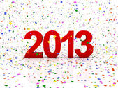 新的一年 2013 — 图库照片
