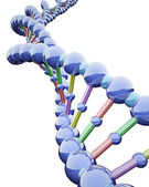 Metallic DNA Chains — Stock Photo