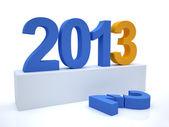 Goodbye 2012 hello 2013 — Stock Photo