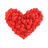 Red balloons forming a heart — Stock Photo