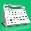 April 2013 Calendar - Stock Photo