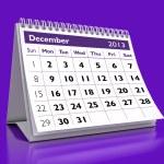 December 2013 Calendar — Stock Photo #14761327