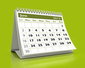 June 2013 Calendar — Stock Photo