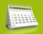 June 2013 Calendar — Stock Photo