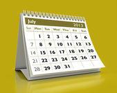 Kalendarz lipiec 2013 — Zdjęcie stockowe