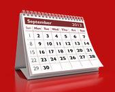 September 2013 Calendar — Stock Photo