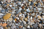 Small pebbles in beach — Stock Photo