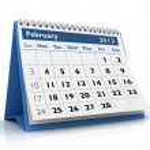 February 2013 Calendar — Stock Photo