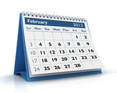 Kalendarz lutego 2013 — Zdjęcie stockowe