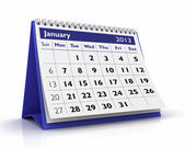 January 2013 Calendar — Stock Photo