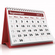 Stock Photo: September 2013 Calendar