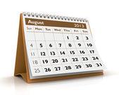 August 2013 Calendar — Stock Photo