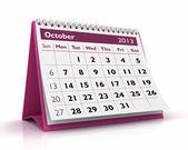 October 2013 Calendar — Stock Photo