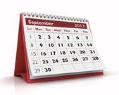 сентябрь 2013 календарь — Стоковое фото