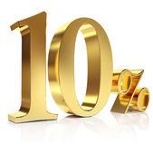 Gold ten percent discount symbol — Stock Photo